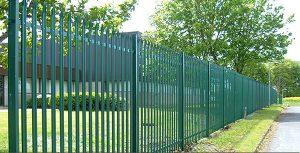Green Palisade Security Fencing