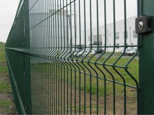 Green Weld Mesh Fence