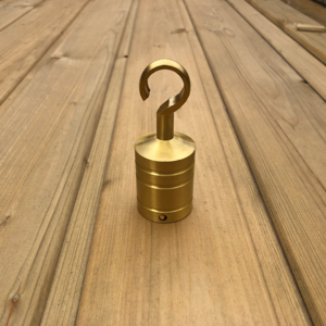 brass hook end for decking rope