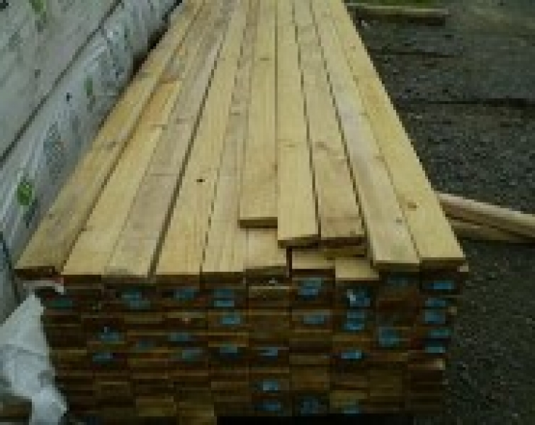 100mm 4 inch x 22mm 1 inch tanalised green timber rail for Tanalised timber decking
