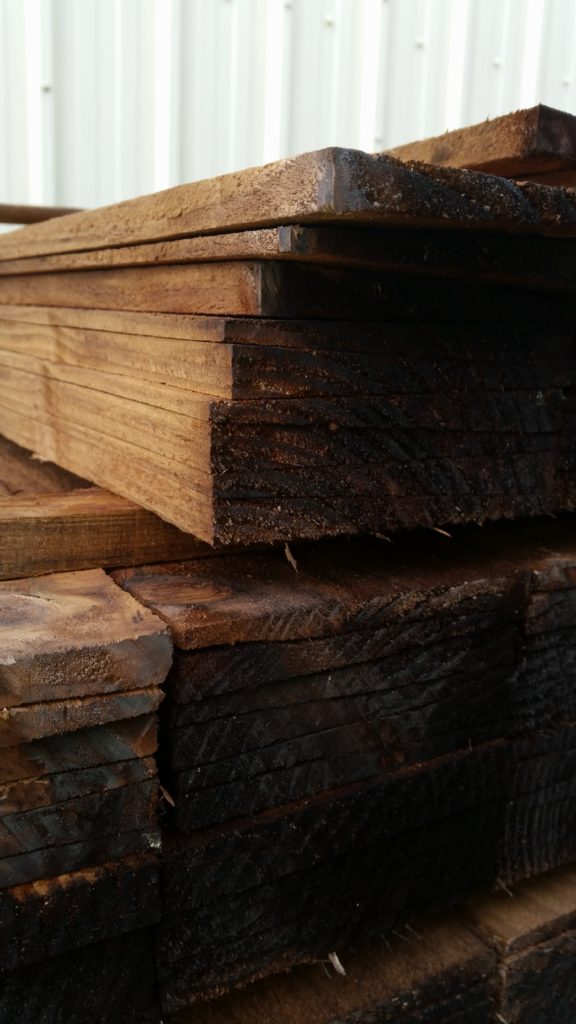 Tanalised Brown Feather Edge Fence Boards 4inch Oakdale