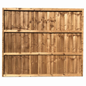 full framed feather edge panel tanalised brown back