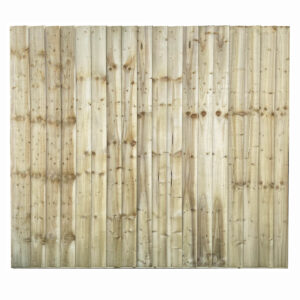 Full Framed Feather Edge Fence Panel Tanalised Green front