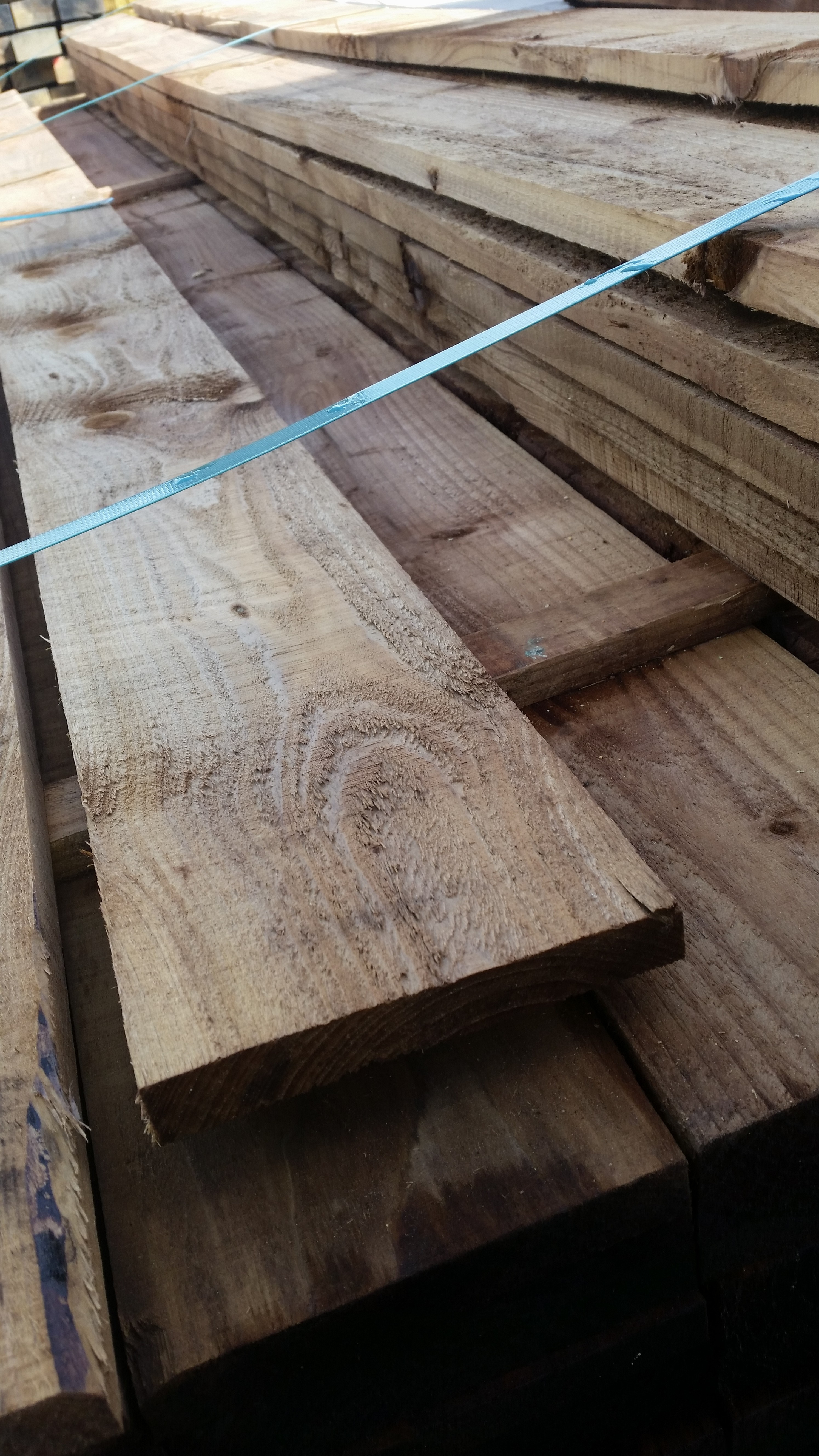 150mm 6 inch x 22mm 1 inch tanalised brown timber board for Tanalised timber decking