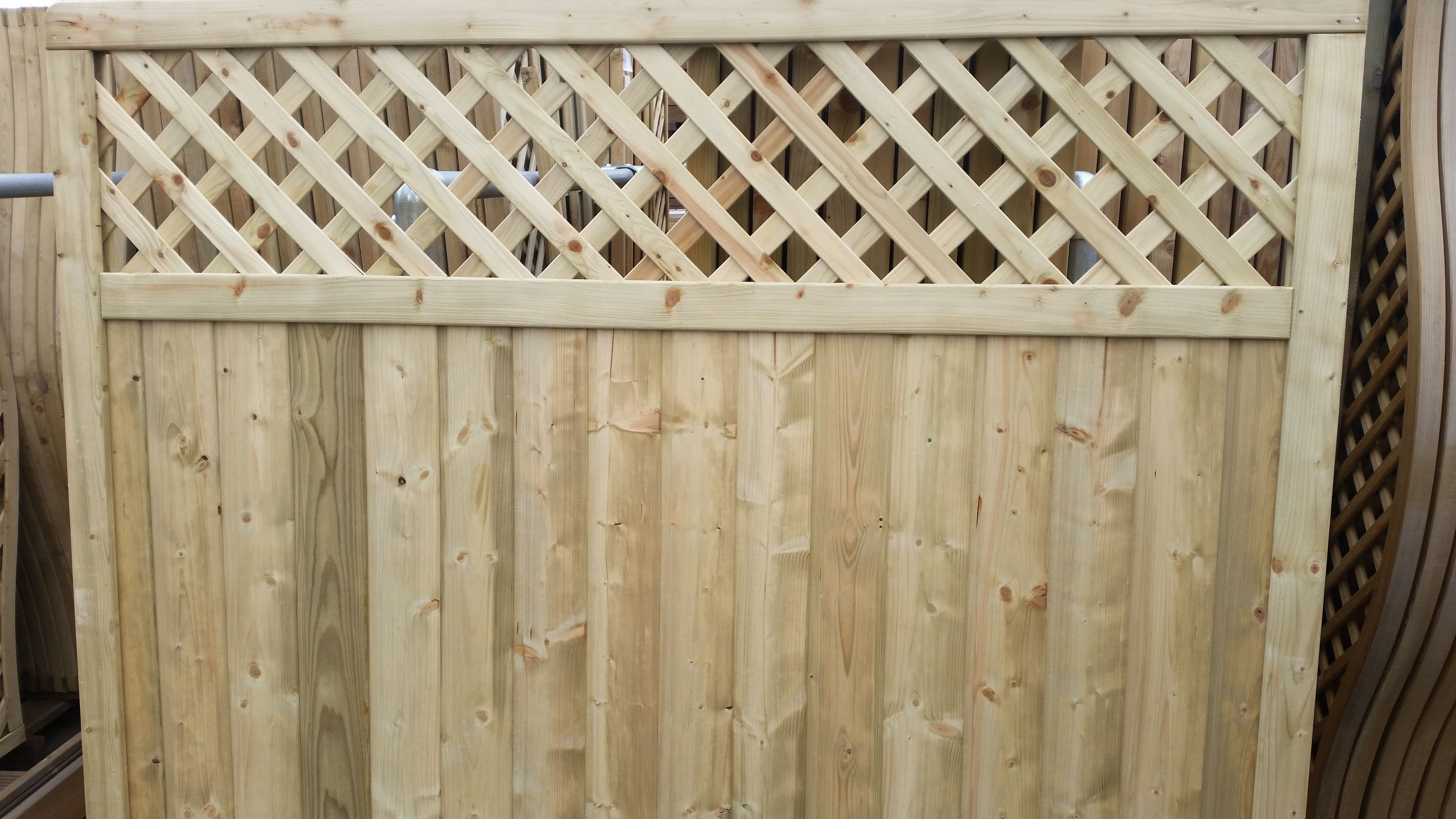 Tongue And Groove Lattice Top Panel Oakdale Fencing