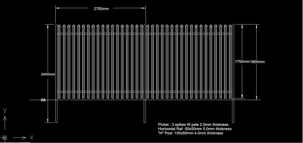 1 8m High Steel Palisade Security Fencing Oakdale Fencing