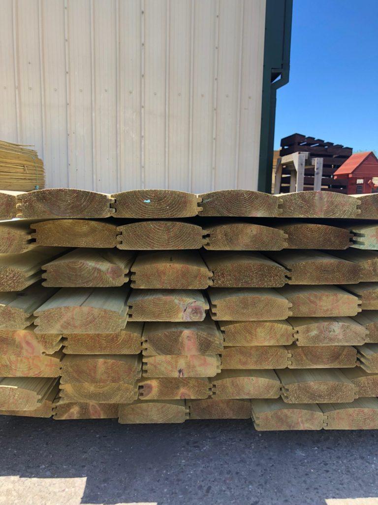 Premium Softwood Loglap Cladding 50mm X 150mm Oakdale